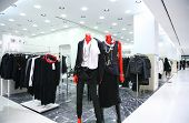 Mannequins In A Empty Modern Clothes Shop