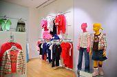 Children`s Mannequin In  A Empty Modern Shop