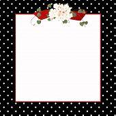 Black polka dot frame