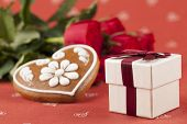 Gift, Heart And Roses