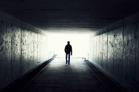 pic of underworld  - silhouette in a subway tunnel - JPG