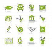 School and Education Icons // Natura Series