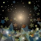 Abstract Starry Night Sky - Vector Illustration