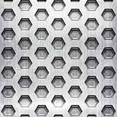 honeycomb metal grid