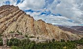 Panorama of Hemis gompa (Tibetan Buddhist monastery), Ladakh, Jammu and Kashmir, India