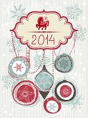 2014 Christmas card with horse