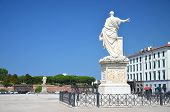 stock photo of duke  - The statue of Grand Duke Ferdinand III on Piazza della Republica in Livorno - JPG