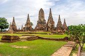Wat Chaiwatthanaram In The City Of Ayutthaya.