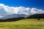 Dolomites, Mountain Latemar Panorama