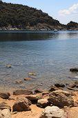 Beautiful Rocky Beach And Turquoise Bay, Halkidiki, Greece.