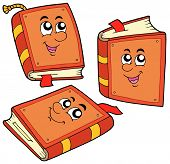 Cartoon Books In Various Positions