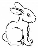 pic of rabbit year  - An illustration of a stylised rabbit perhaps a rabbit tattoo - JPG