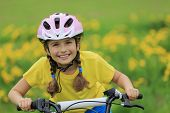 Bike riding - young girl on bike