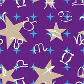 seamless pattern on zodiac