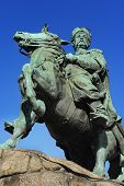 foto of bohdan  - Famous monument to Bogdan Khmelnytsky in Kiev Ukraine - JPG