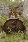 Rusting Steam Engine Boiler.