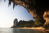 Exotic landscape in Thailand, Railay beach in Krabi
