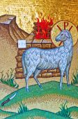 Biblical Mosaic Scene At Kykkos Monastery, Cyprus