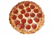 stock photo of take out pizza  - Pepperoni Pizza - JPG