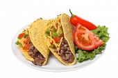 picture of tacos  - Plate with tacos - JPG