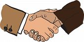 illustration of handshake