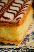 foto of custard  - Close up of a millefeuille - JPG