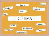 Cinema Corkboard Word Concept