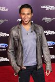 LOS ANGELES - MAR 6: Corbin Bleu at the premiere of DreamWorks Pictures' 'Need For Speed' at TCL Chi