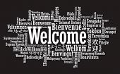 foto of statements  - Welcome Tag Cloud in vector format - JPG