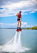 picture of ski boat  - The new spectacular extreme sport called  flyboard - JPG