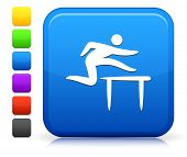 Hurdle Icon on Square Internet Button Collection