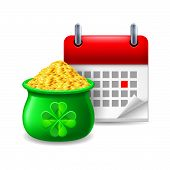Pot of gold and calendar