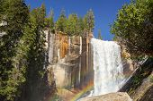 Vernal falls and rainbow. Yosemite national Park, California, USA