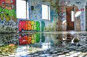 Graffiti at abandoned building