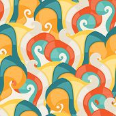 Abstract seamless swirl pattern.