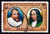 Postage Stamp Bermuda 1984 Thomas Gates, George Somers