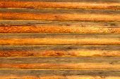 Wall Of Log Cabin