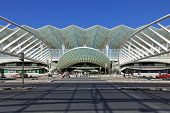 Lisbon, Portugal - August 02, 2013: Gare do Oriente (Orient Station), a public transport hub designe