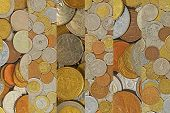 image of copper coins  - Coins collage - JPG