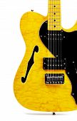 stock photo of fret  - yellow semi - JPG