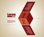 geometric design template for text
