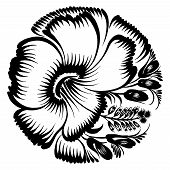 Decorative Silhouette Hibiscus