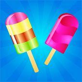 Ice Cream Lollies Background