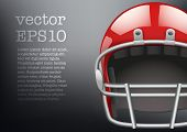 foto of headgear  - Background of  American football game - JPG