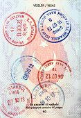 Visa stamps in Turkish passport