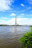 The Rama Viii Bridge Over The Chao Praya River In Bangkok, Thailand.