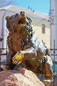 Famous Sculpture Bear In Yaroslavl, Symbol Of The City