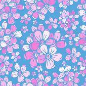 Flowers sakura seamless pattern