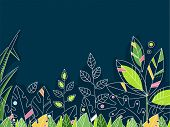 Design Illustration Featuring Rainforest Leaves