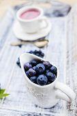 Blueberries - fresh fruits from garden